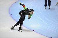 SCHAATSEN: HEERENVEEN: Thialf, 4th Masters International Speed Skating Sprint Games, 25-02-2012, Mircia Vranceaunu (M55) 2nd, ©foto: Martin de Jong