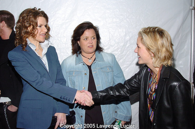 Sandra Bernhard, Rosie O'Donnell and Kelli Carpenter