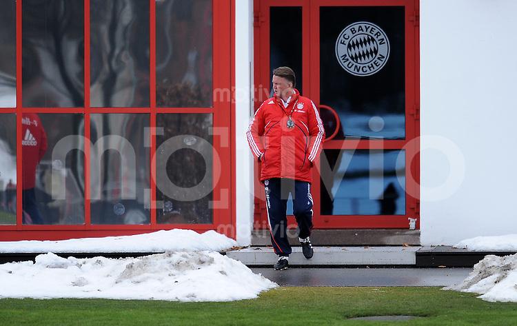 Fussball 1. Bundesliga :  Saison   2009/2010   03.02.2010 Training beim FC Bayern Muenchen Trainer Louis van Gaal (FCB)