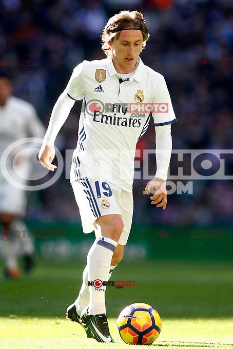Real Madrid's Luka Modric during La Liga match. January 7,2016. (ALTERPHOTOS/Acero) . NORTEPHOTO.COM