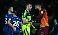 Bolton Wanderers' Daryl Murphy shakes hands with  Rochdale's goalkeeper Robert Sanchez at the end of the match<br /> <br /> Photographer Andrew Kearns/CameraSport<br /> <br /> The EFL Sky Bet League One - Rochdale v Bolton Wanderers - Saturday 11th January 2020 - Spotland Stadium - Rochdale<br /> <br /> World Copyright © 2020 CameraSport. All rights reserved. 43 Linden Ave. Countesthorpe. Leicester. England. LE8 5PG - Tel: +44 (0) 116 277 4147 - admin@camerasport.com - www.camerasport.com