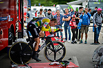 Foto Marco Alpozzi - LaPresse <br /> 22/05/2018 Trento-Rovereto (Italia)<br /> Sport Ciclismo<br /> Giro d'Italia 2018 - edizione 101-  tappa 16<br /> TRENTO - ROVERETO (ITT)<br /> Nella foto: DENNIS Rohan (AUS) (BMC RACING TEAM) sui rulli<br /> <br /> Photo Marco Alpozzi - LaPresse<br /> May 22, 2018  Trento-Rovereto(Italy)  <br /> Sport Cycling<br /> Giro d'Italia 2018 - 101th edition -  stage 16<br /> TRENTO - ROVERETO (ITT)<br /> In the pic: DENNIS Rohan (AUS) (BMC RACING TEAM)