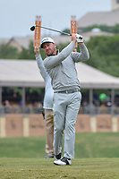 Graeme McDowell (NIR) watches his tee shot on 11 during Round 2 of the Valero Texas Open, AT&T Oaks Course, TPC San Antonio, San Antonio, Texas, USA. 4/20/2018.<br /> Picture: Golffile | Ken Murray<br /> <br /> <br /> All photo usage must carry mandatory copyright credit (© Golffile | Ken Murray)