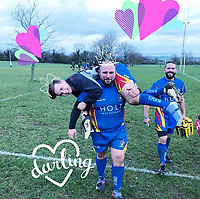BNPS.co.uk (01202 558833)<br /> AliciaDavis/BNPS<br /> <br /> Rugby man... Jamie, centre, with team mates. <br /> <br /> The wife of an ex-soldier who suffered from severe PTSD today blamed the military's 'lack of support' for him for contributing to his suspected suicide.<br /> <br /> Alicia Davis branded the treatment her tragic husband Jamie received as 'disgusting.'<br /> <br /> The 30-year-old had seen his friend get shot in the head and escaped IED explosions when he served in Afghanistan.<br /> <br /> Mr Davis, a married father-of-two who served in the 4th Battalion, The Rifles, failed to cope with his PTSD since coming out of the army and received 'no help from the army.'<br /> <br /> He went missing from his home in Christchurch, Dorset, last Friday night, with his body found the following morning.<br /> <br /> More than 100 former military personnel suffering from PTSD have died in suspected suicides since returning from Iraq and Afghanistan in recent years.
