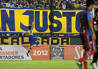 BUENOS AIRES. ARGENTINA, 14 DE MARÇO 2012 - Lance de partida entre Arsenal di Sarandí x Boca Juniors valido para 3 rodada da Taça Libertadores no estadio Julio Grondona na cidade de Buenos Aires. FOTO: JUANI RONCORONI - BRAZIL PHOTO PRESS.