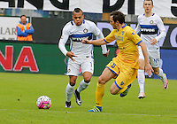 Jonathan Biabiany  during the  italian serie a soccer match,between Frosinone and Inter      at  the Matusa   stadium in Frosinone  Italy , April 09, 2016