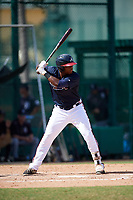 Atlanta Braves Justin Smith (49) at bat during an Instructional League game against the Detroit Tigers on October 10, 2017 at the ESPN Wide World of Sports Complex in Orlando, Florida.  (Mike Janes/Four Seam Images)