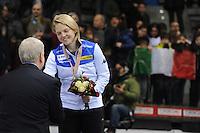 SHORT TRACK: TORINO: 15-01-2017, Palavela, ISU European Short Track Speed Skating Championships, Podium Overall Ladies, Arianna Fontana (ITA), ©photo Martin de Jong