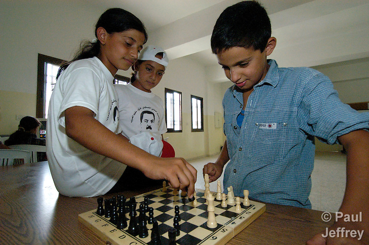 In the Al' Arrub refugee camp south of Bethlehem, playing chess is part of the skills training offered to children in an ACT Alliance-supported program run by the International Christian Committee of the Near East Council of Churches.