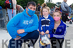 Nicole Allen with her parents Anthony Allen and Sinead Darcy at her first day in CBS NS Tralee on Monday.