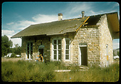 Abandoned DSP&amp;P stone depot in Gunnison.  Part of the roof is missing.  This was razed in 1956 so as to widen Highway 50.<br /> DSP&amp;P  Gunnison, CO