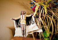 A Native American statue at the Crazy Woman Lodge in Superior, Nebraska, Friday, December 2, 2011. Hunting White Tail deer and wild turkey..Photo by Matt Nager