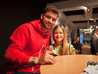 12-02-14, Netherlands,Rotterdam,Ahoy, ABNAMROWTT,Grigor Dimitrov(BUL)<br /> Photo:Tennisimages/Henk Koster