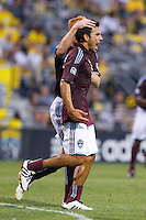 21 AUGUST 2010:  Colorado Rapids defender/midfielder Pablo Mastroeni (25) during MLS soccer game between Colorado Rapids vs Columbus Crew at Crew Stadium in Columbus, Ohio on August 21, 2010.