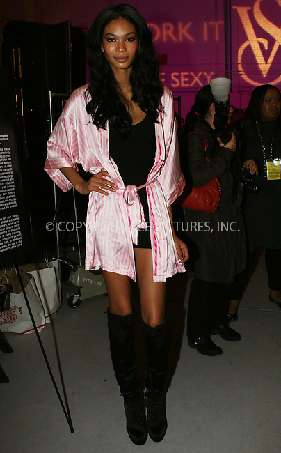 WWW.ACEPIXS.COM . . . . .  ....November 19 2009, New York City....Model Chanel Iman backstage at the Victoria's Secret fashion show at The Armory on November 19, 2009 in New York City....Please byline: NANCY RIVERA- ACEPIXS.COM.... *** ***..Ace Pictures, Inc:  ..Tel: 646 769 0430..e-mail: info@acepixs.com..web: http://www.acepixs.com