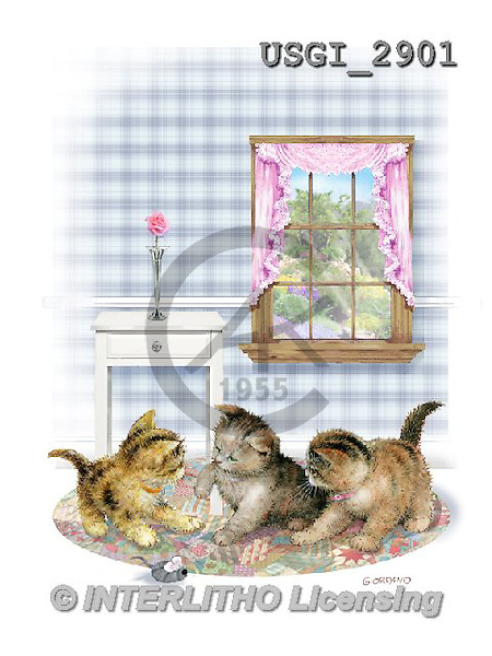 GIORDANO, CUTE ANIMALS, LUSTIGE TIERE, ANIMALITOS DIVERTIDOS, paintings+++++,USGI2901,#AC#