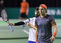 Rotterdam, Netherlands, 10 februari, 2018, Ahoy, Tennis, ABNAMROWTT, Qualifying doubles, PETZSCHNER (GER)/STRUFF (GER)<br /> Photo: Henk Koster/tennisimages.com
