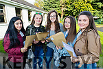 Students attending Presentation Secondary School, Tralee, who received their Junior Certificate results on Wednesday morning last were l-r: Adeena Mohsin, Kate Lynch, Sadhbh Stack, SarahJane Kirby and Charlotte Calleja O'Halloran.