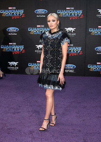 "HOLLYWOOD, CA - April 19: Pom Klementieff, At Premiere Of Disney And Marvel's ""Guardians Of The Galaxy Vol. 2"" At The Dolby Theatre  In California on April 19, 2017. Credit: FS/MediaPunch"