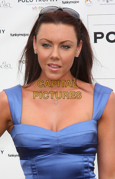 MICHELLE HEATON .Duke Of Essex Polo Trophy at Gaynes Park, Epping, Essex, England, UK,.July 4th 2009..portrait headshot  blue silver cross necklace .CAP/ROS.©Steve Ross/Capital Pictures