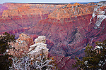 Hance Canyon and the Sinking Ship seen from Grandview Point, Grand Canyon National Park, AZ, USA