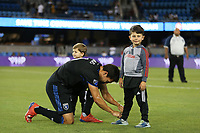 SAN JOSE, CA - AUGUST 03: Shea Salinas  during a Major League Soccer (MLS) match between the San Jose Earthquakes and the Columbus Crew on August 03, 2019 at Avaya Stadium in San Jose, California.