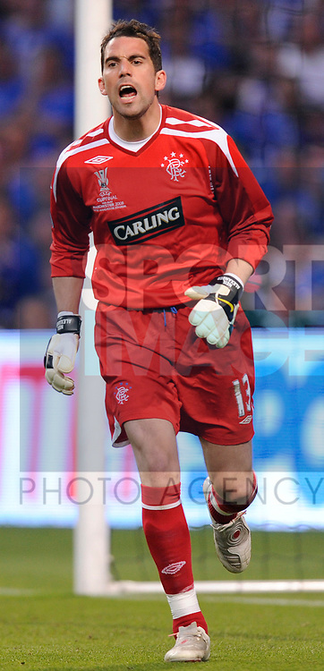 Neil Alexander of Rangers during the Europa League Final match at The Etihad Stadium, Manchester. Picture date 14th May 2008. Picture credit should read: Simon Bellis/Sportimage