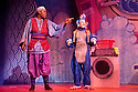 London, UK. 01/12/2011. Aladdin opens at the Lyric Hammersmith. Hammed Animashaun as Aladdin and Steven Webb as Wishy Washy. Photo credit: Jane Hobson