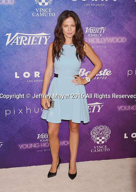 HOLLYWOOD, CA - AUGUST 16: Actress Tammin Sursok arrives at Variety's Power Of Young Hollywood at NeueHouse Hollywood on August 16, 2016 in Los Angeles, California.