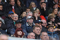Swansea supporters during the Barclays Premier League match between Swansea City and Liverpool at the Liberty Stadium, Swansea on Sunday May 1st 2016