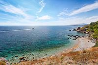 The beach Mersinidi in Chios island, Greece