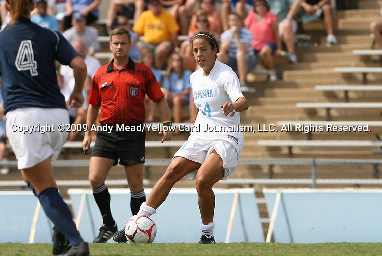 30 August 2009: North Carolina's Casey Nogueira. The University of North Carolina Tar Heels defeated the University of North Carolina Greensboro Spartans 1-0 at Fetzer Field in Chapel Hill, North Carolina in an NCAA Division I Women's college soccer game.