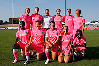 Sky Blue FC starting eleven. The Western New York Flash defeated Sky Blue FC 2-0 during a Women's Professional Soccer (WPS) match at Yurcak Field in Piscataway, NJ, on July 17, 2011.