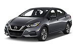 2020 Nissan Versa SV 4 Door Sedan angular front stock photos of front three quarter view
