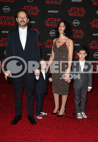 LOS ANGELES, CA - DECEMBER 9: Ram Bergman, Family, at Premiere Of Disney Pictures And Lucasfilm's 'Star Wars: The Last Jedi' at Shrine Auditorium in Los Angeles, California on December 9, 2017. Credit: Faye Sadou/MediaPunch /NortePhoto.com NORTEPHOTOMEXICO