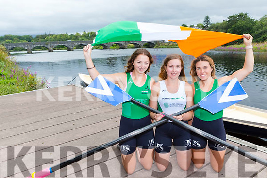 Zoe Hyde, Killorglin, Anna Tyther Killorglin and Molly Sullivan Killarney from Killorglin Rowing club who have all represented Ireland this Summer