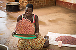 Daily pinto bean preparation in Hope North bakery. Pinto  beans cooked as a soup or stew are served with Posh. This dish is Uganda's staple food.