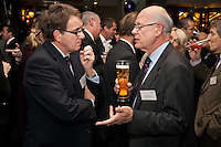 Having fun - Roger Davis of Geo Hallam & Sons (left) and Richard Bonnello of RWB Chartered Accountants