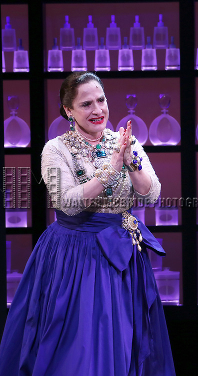 Patti Lupone during the Broadway opening night performance curtain call for 'War Paint' at the Nederlander Theatre on April 6, 2017 in New York City