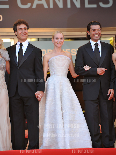 "Doug Liman (left), Naomi Watts & Khaled Nabawyi at premiere for their movie ""Fair Game"" which is in competition at the 63rd Festival de Cannes..May 20, 2010  Cannes, France.Picture: Paul Smith / Featureflash"