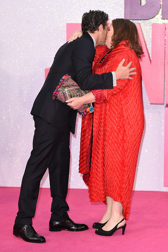 """Patrick Dempsey and Joanna Scanlan<br /> at the """"Bridget Jones's Baby"""" World premiere, Odeon Leicester Square , London.<br /> <br /> <br /> ©Ash Knotek  D3149  05/09/2016"""