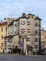 Restaurant, spätgotischer Wohnturm Ottoburg, Innsbruck, Tirol, Österreich, Europa<br /> Restaurant, late Gothic tower house Ottoburg, Innsbruck, Tyrol, Austria, Europe
