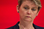 © Joel Goodman - 07973 332324 . 28/09/2016 . Liverpool , UK . YVETTE COOPER at the final day of the Labour Party Conference at the ACC in Liverpool . Photo credit : Joel Goodman
