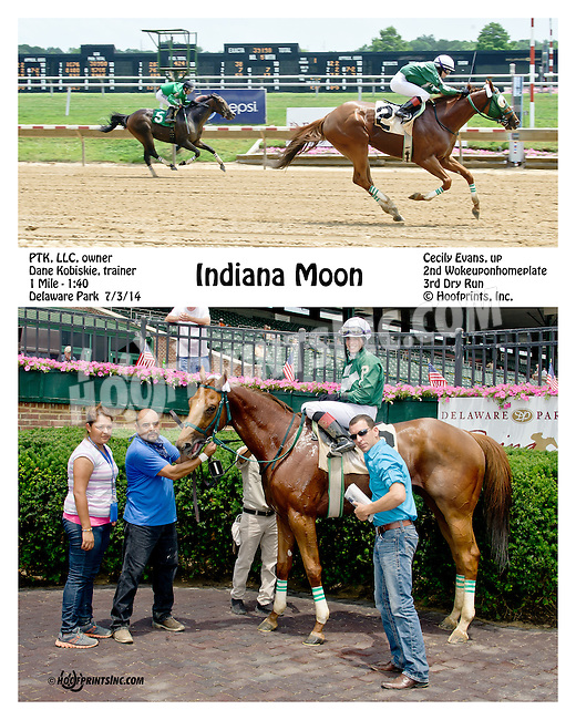 Indiana Moon winning at Delaware Park on 7/3/14
