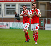 Fleetwood Town's James Husband and Lewis Coyle applaud the fans after the match <br /> <br /> Photographer Alex Dodd/CameraSport<br /> <br /> The EFL Sky Bet League One - Fleetwood Town v Accrington Stanley - Saturday 15th September 2018  - Highbury Stadium - Fleetwood<br /> <br /> World Copyright &copy; 2018 CameraSport. All rights reserved. 43 Linden Ave. Countesthorpe. Leicester. England. LE8 5PG - Tel: +44 (0) 116 277 4147 - admin@camerasport.com - www.camerasport.com