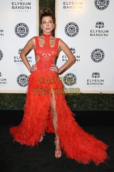 LOS ANGELES, CA - JANUARY 7: Hailey Baldwin at the The Art Of Elysium Tenth Annual Celebration 'Heaven' Charity Gala at Red Studios i Los Angeles, California on January 7, 2017. <br /> CAP/MPI/PA<br /> &copy;PA/MPI/Capital Pictures