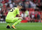 West Ham's Joe Hart looks on dejected after going 4-0 down during the premier league match at Old Trafford Stadium, Manchester. Picture date 13th August 2017. Picture credit should read: David Klein/Sportimage