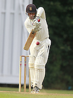 Will Russell bats for Highgate during the Middlesex County Cricket League Division Three game between Highgate and South Hampstead at Park Road, Crouch End on Sat Aug 2, 2014