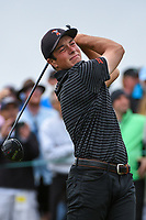 Viktor Hovland (NOR)(a) watches his tee shot on 9 during round 1 of the 2019 US Open, Pebble Beach Golf Links, Monterrey, California, USA. 6/13/2019.<br /> Picture: Golffile | Ken Murray<br /> <br /> All photo usage must carry mandatory copyright credit (© Golffile | Ken Murray)