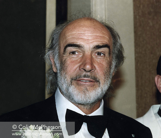 Legendary Scottish film actor Sir Sean Connery, pictured at the Edinburgh Press Club during a function to honour his work in the film industry. Connery was born in Edinburgh, Scotland and was an acclaimed Hollywood star who made his name playing the lead role in  a number of James Bond movies in the 1960s. He was a committed nationalist who donated large sums of money to the Scottish National Party.
